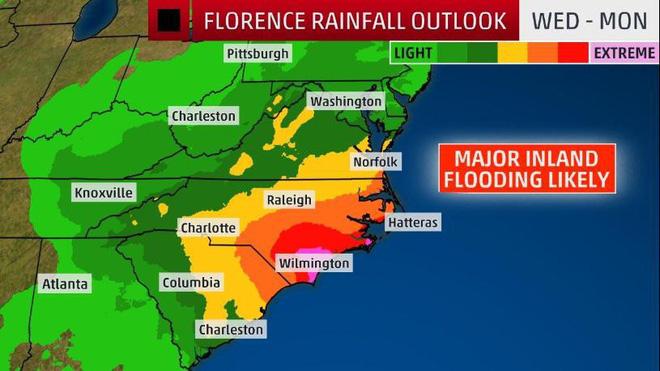 CNN: 4 yếu tố biến Florence trở thành siêu bão khó lường, mạnh nhất trong gần 3 thập kỷ - Ảnh 3.