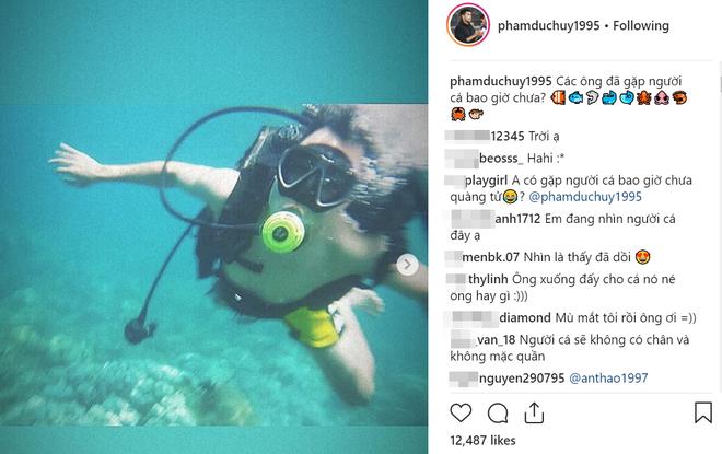 Đang đi lặn biển, Đức Huy vẫn vào dằn mặt thanh niên lợi dụng bán hàng online - Ảnh 1.