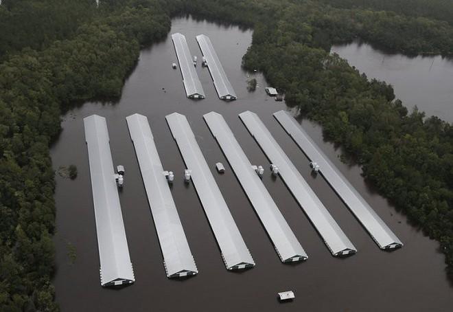Ảnh: Bờ Đông nước Mỹ tan hoang, nước không ngừng dâng cao do bão Florence - Ảnh 7.
