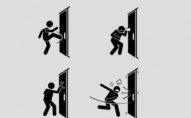 Chỉ qua một cánh cửa đóng im ỉm, bạn sẽ biết được cách ứng xử và con người thật của mình