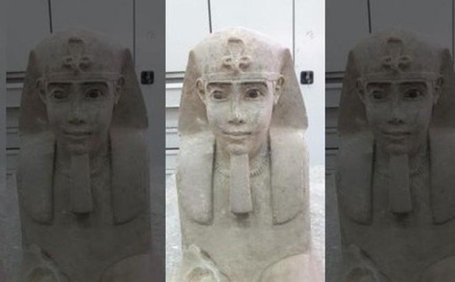 Tượng nhân sư 2.000 năm tuổi ẩn trong ngôi đền cổ Ai Cập