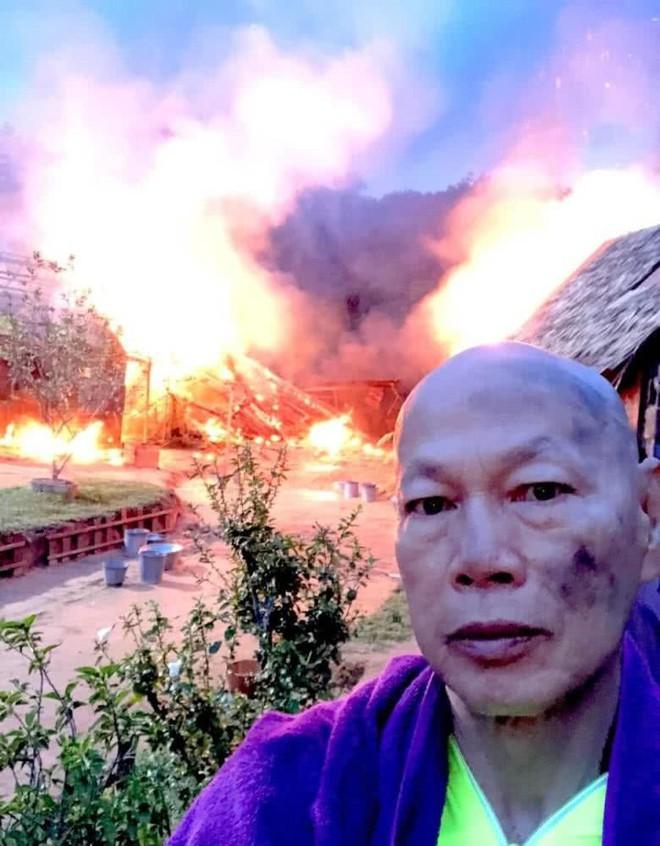 Công bố clip hỏa hoạn phim trường khiến mỹ nhân Anh Hùng Xạ Điêu bỏng nặng - Ảnh 3.
