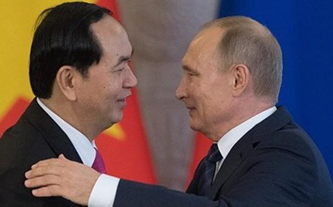 Tổng thống Nga Putin chia buồn về việc Chủ tịch Trần Đại Quang qua đời