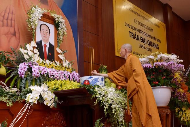 Tăng ni, phật tử TP HCM cầu nguyện, tưởng niệm Chủ tịch nước Trần Đại Quang - Ảnh 8.