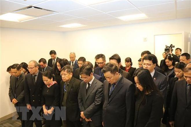 Lễ viếng và mở sổ tang Chủ tịch nước Trần Đại Quang tại LHQ - Ảnh 1.