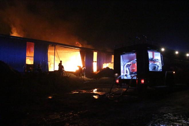 Cảnh sát đục tôn chữa cháy công ty gỗ rộng hàng nghìn m2 ở Bình Dương - Ảnh 4.
