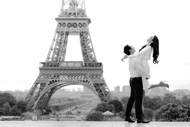 Hé lộ ảnh cưới ngọt ngào, giản dị chụp ở Paris của Lan Khuê và ông xã đại gia trước ngày trọng đại - Ảnh 2.