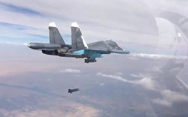 Video: Không quân Nga dội bão lửa nghiền nát mục tiêu của phiến quân Syria