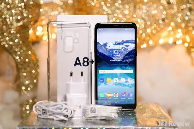 Mở hộp và trên tay Samsung Galaxy A8+ (2018): Mở khóa khuôn mặt, selfie xóa phông - Ảnh 18.