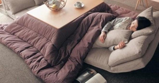 Bàn sưởi Kotatsu - phát minh tuyệt vời nhất của người Nhật - Ảnh 3.