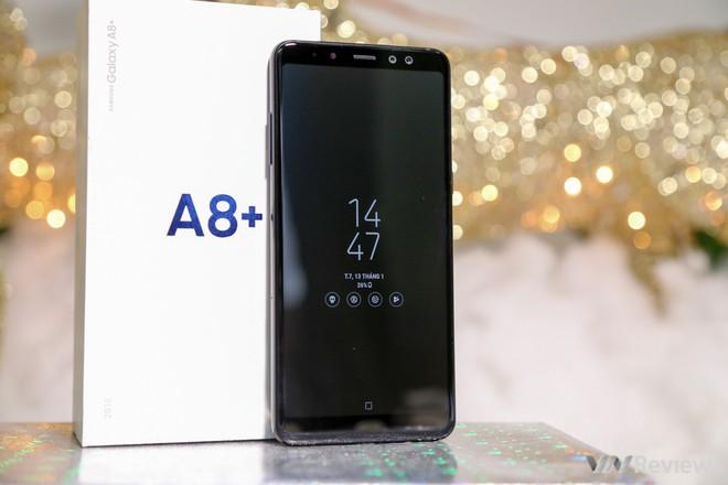 Mở hộp và trên tay Samsung Galaxy A8+ (2018): Mở khóa khuôn mặt, selfie xóa phông - Ảnh 22.