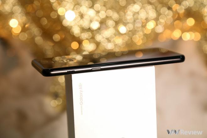Mở hộp và trên tay Samsung Galaxy A8+ (2018): Mở khóa khuôn mặt, selfie xóa phông - Ảnh 23.