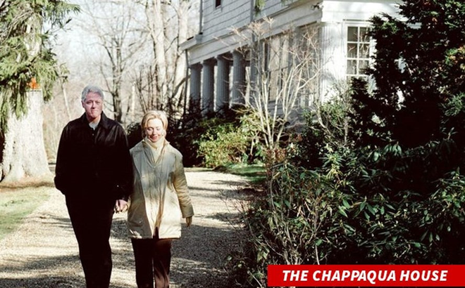 """""""Bà hỏa"""" ghé thăm nhà vợ chồng cựu Tổng thống Bill Clinton ở New York"""