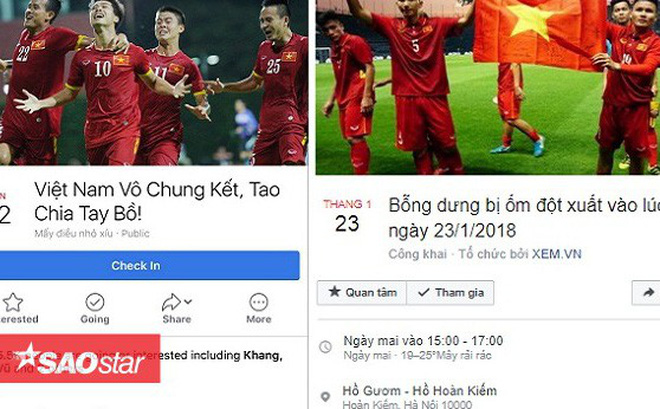 Lập sự kiện 'rủ rê xem U23 Việt Nam đá bán kết' đang là 'trend' của ngày hôm nay!