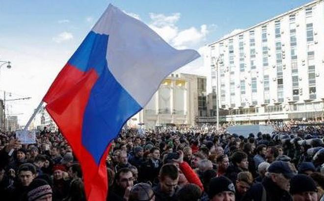 Số cuộc biểu tình chống chính phủ ở Nga tăng mạnh trong năm 2018