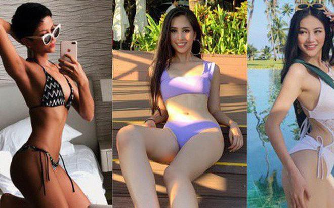 Đọ body nóng bỏng khi diện bikini của 6 nàng hậu Vbiz trên đấu trường quốc tế 2018