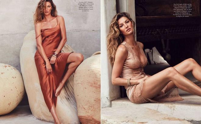 Siêu mẫu đắt giá Gisele Bundchen khoe dáng tuyệt mỹ trên tạp chí