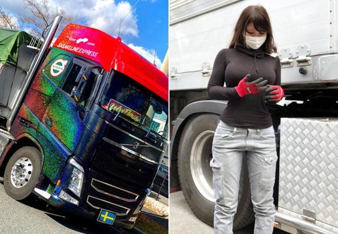 """Cô gái bỗng nổi như cồn vì được mệnh danh là """"nữ tài xế xe tải xinh đẹp nhất Nhật Bản"""" - Ảnh 1."""