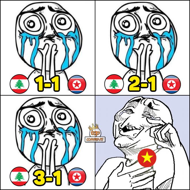 Tâm trạng thay đổi liên tục của CĐV Việt khi xem Triều Tiên thi đấu - nguồn chế ảnh bất tận - Ảnh 5.