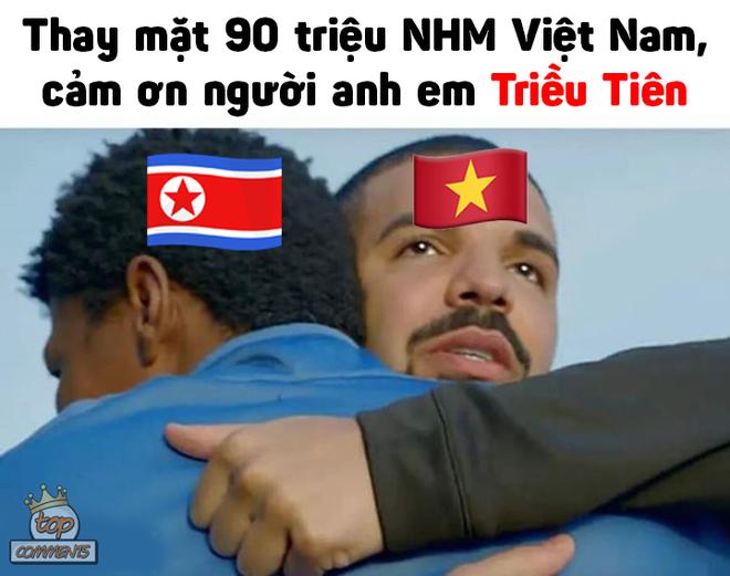 Tâm trạng thay đổi liên tục của CĐV Việt khi xem Triều Tiên thi đấu - nguồn chế ảnh bất tận - Ảnh 1.