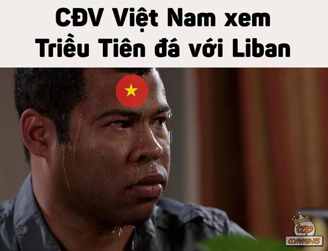 Tâm trạng thay đổi liên tục của CĐV Việt khi xem Triều Tiên thi đấu - nguồn chế ảnh bất tận - Ảnh 2.