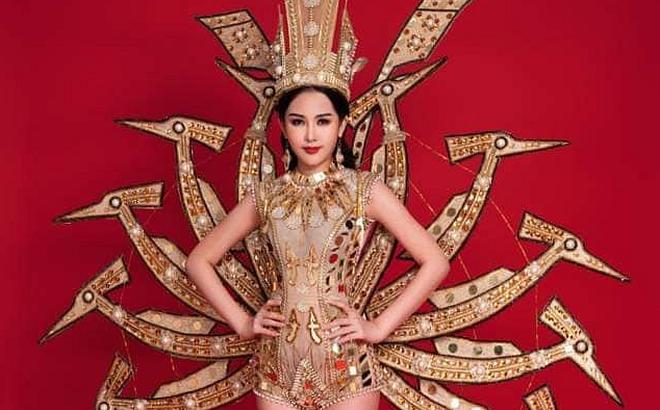 """Phá cách ở phần thi quốc phục, Ngân Anh vẫn """"bại trận"""" dù đang trong giai đoạn nước rút của Miss Intercontinental"""