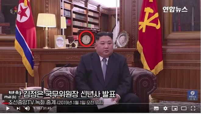 Phát hiện chi tiết thú vị trong thước phim thông điệp năm mới của ông Kim Jong-un - Ảnh 1.