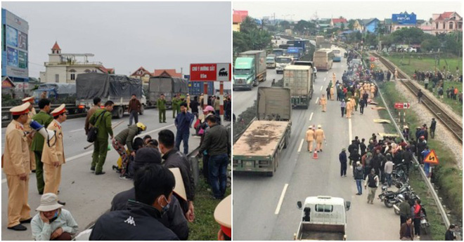 Vợ lái xe tải tông chết 8 người ở Hải Dương chủ động xin đến từng nhà nạn nhân xin lỗi - Ảnh 1.