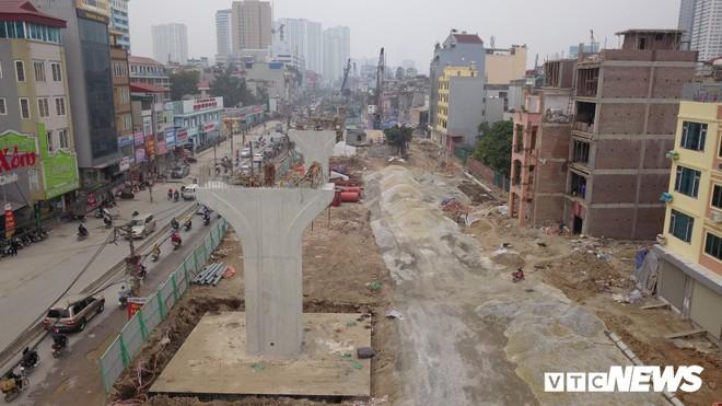 Ảnh: Đại công trường gần 10.000 tỷ đồng trên đường cong mềm mại ở Hà Nội - Ảnh 1.