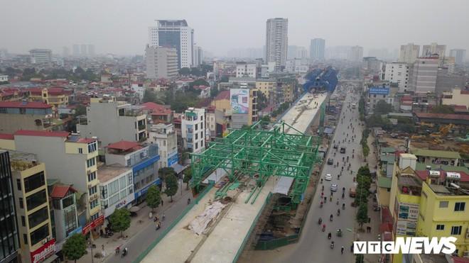Ảnh: Đại công trường gần 10.000 tỷ đồng trên đường cong mềm mại ở Hà Nội - Ảnh 4.