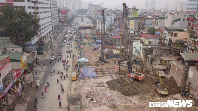 Ảnh: Đại công trường gần 10.000 tỷ đồng trên đường cong mềm mại ở Hà Nội - Ảnh 9.