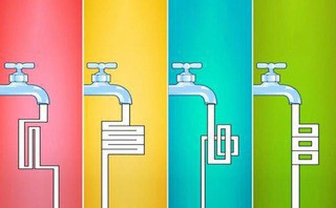 Chọn một vòi nước bạn cho là chảy nhanh nhất để hiểu thêm nhiều điều về trí thông minh của mình