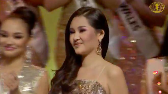Ngân Anh ngậm ngùi, cười gượng khi để vuột mất ngôi vị Hoa hậu Liên lục địa vào tay Philippines - Ảnh 1.
