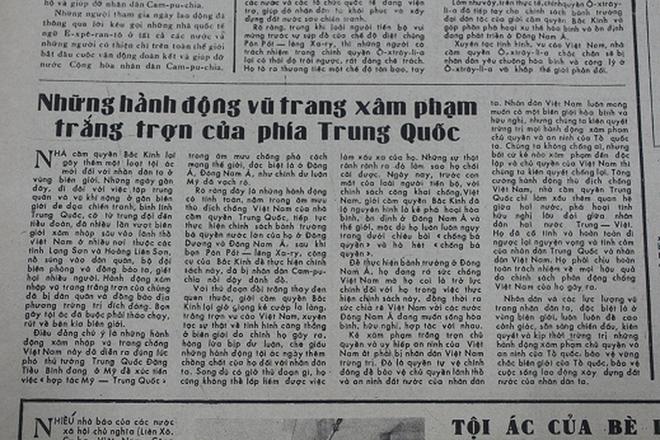Báo chí Việt Nam viết về cuộc chiến tranh bảo vệ biên giới phía Bắc năm 1979 - Ảnh 5.