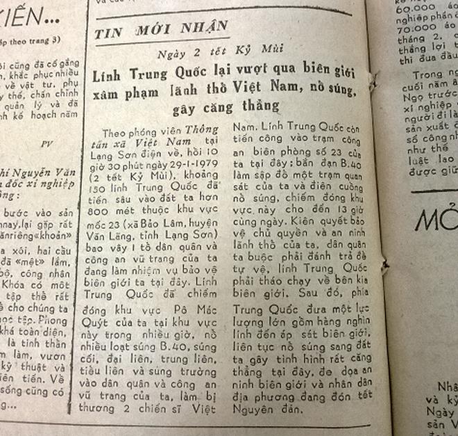 Báo chí Việt Nam viết về cuộc chiến tranh bảo vệ biên giới phía Bắc năm 1979 - Ảnh 6.