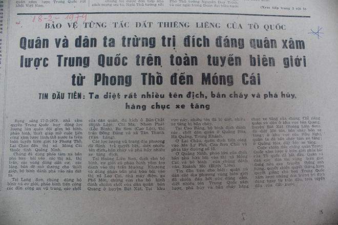 Báo chí Việt Nam viết về cuộc chiến tranh bảo vệ biên giới phía Bắc năm 1979 - Ảnh 11.