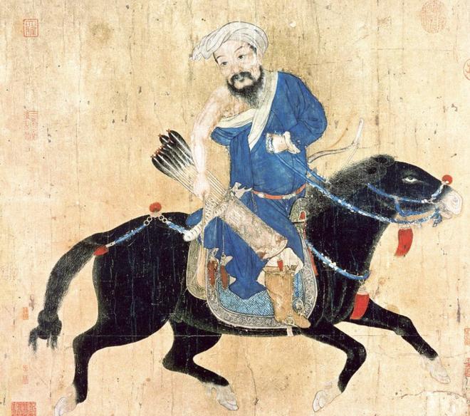 Bản vẽ mực này từ thế kỷ 15-16 cho thấy sức mạnh quân sự lớn nhất của người Mông Cổ: Ngựa nhanh nhẹn, mạnh mẽ và cung thủ khéo léo.