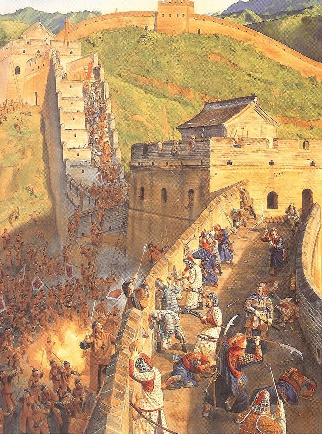 Hình ảnh người Mãn Châu tấn công một phần trường thành năm 1630. Nguồn: Internet