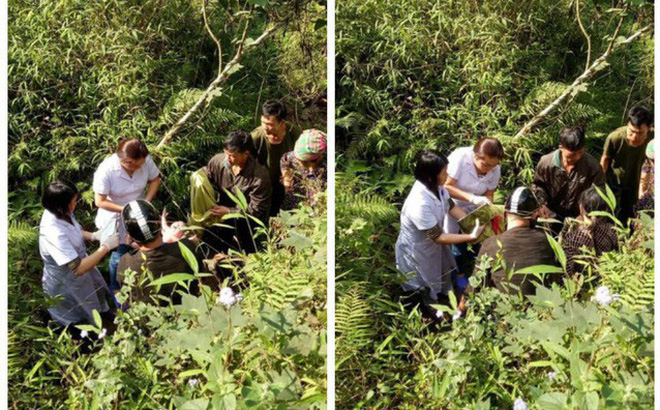 Bác sỹ kể giây phút đỡ đẻ cho sản phụ dưới vách núi sâu 10 mét