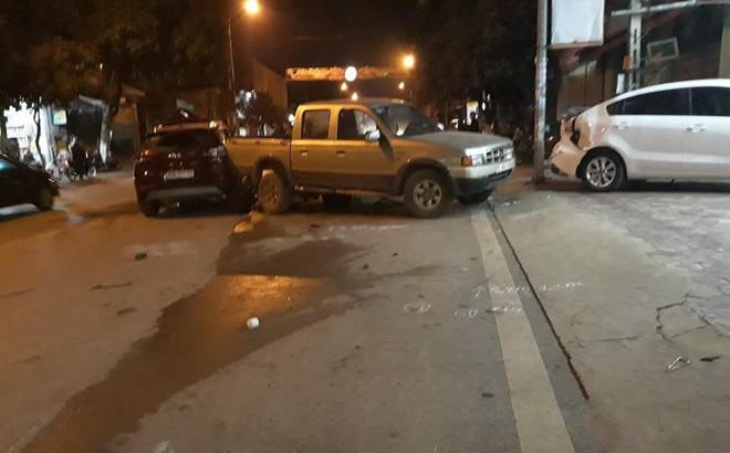 Nam CSGT lái xe ô tô gây tai nạn liên hoàn