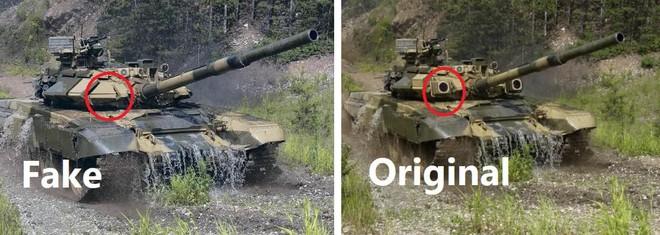 Chuyên gia Ukraine bóc phốt Công ty Xuất khẩu vũ khí Nga dùng hình xe tăng T-90SK giả - Ảnh 2.
