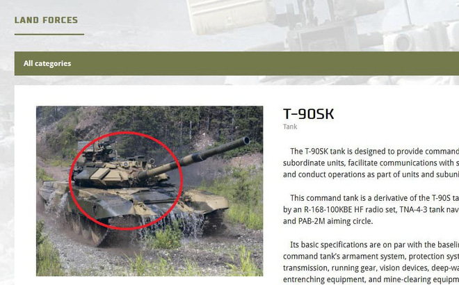 """Chuyên gia Ukraine """"bóc phốt"""" Công ty Xuất khẩu vũ khí Nga dùng hình xe tăng T-90SK giả"""