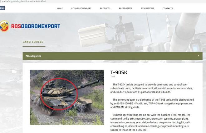 Chuyên gia Ukraine bóc phốt Công ty Xuất khẩu vũ khí Nga dùng hình xe tăng T-90SK giả - Ảnh 1.