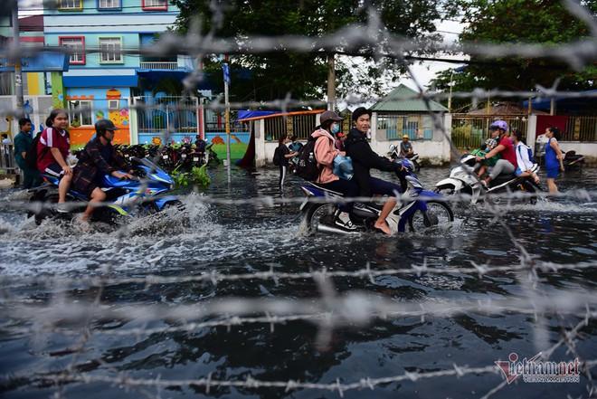 Hàng trăm người Sài Gòn oằn lưng gia cố bờ bao vỡ do triều cường - Ảnh 12.