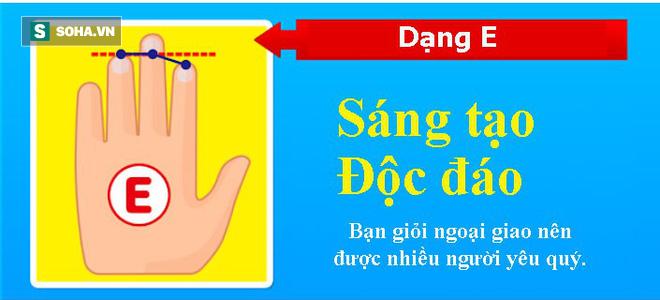 Tố chất bộc lộ qua độ dài 3 ngón tay trên bàn tay trái: Nếu ở dạng E, bạn rất thông minh, quyến rũ - Ảnh 6.
