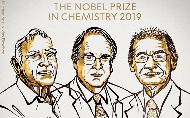 Giải Nobel Hóa học 2019 thuộc về 3 nhà khoa học đi tiên phong trong công nghệ pin Lithium-Ion