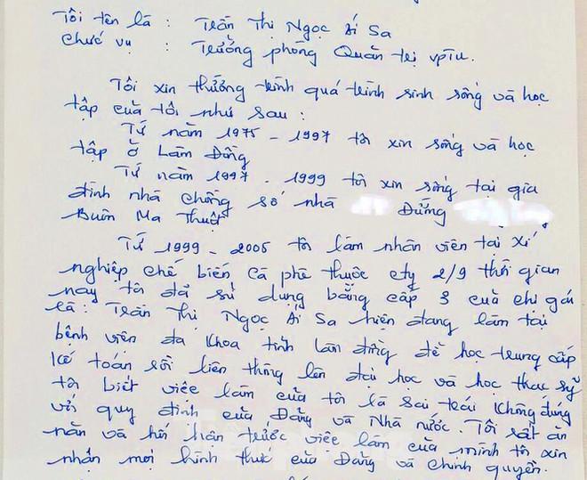 Bản viết tay đầy lỗi chính tả của nữ Trưởng phòng mượn tên để thăng tiến - Ảnh 3.