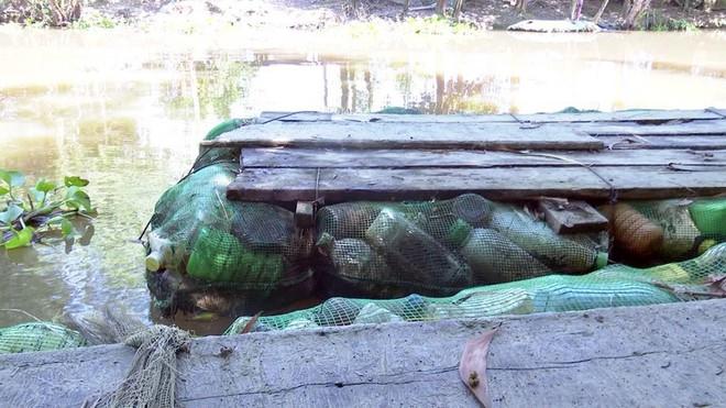 Độc đáo bè qua sông làm bằng vỏ chai thuốc bảo vệ thực vật - Ảnh 6.
