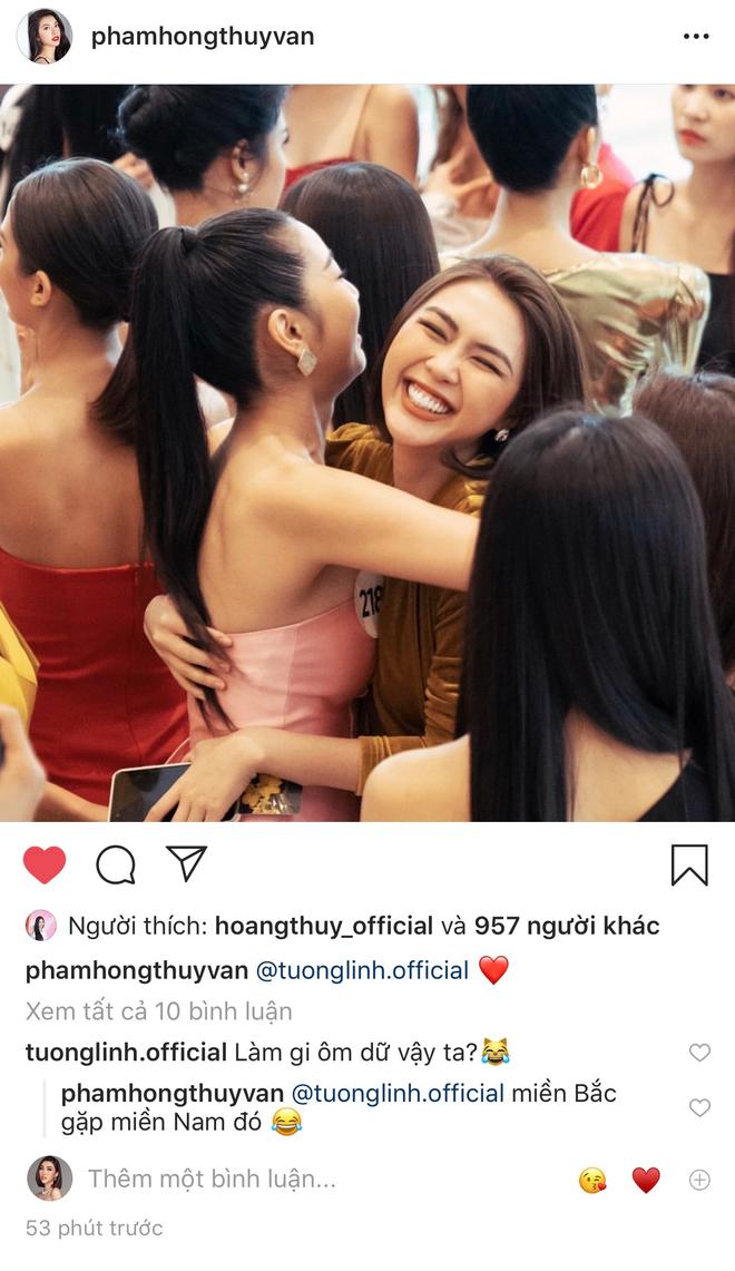 Tường Linh, Thúy Vân dính nhau như sam tại cuộc thi Hoa hậu Hoàn vũ - Ảnh 2.