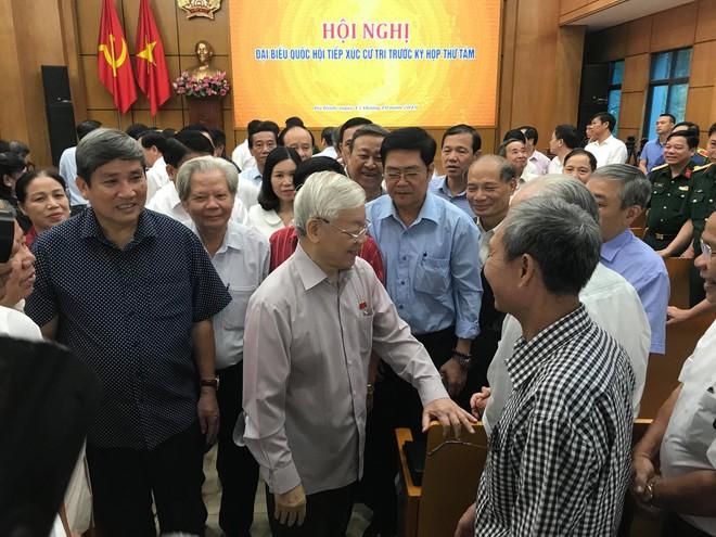 Cử tri Hà Nội rất mừng khi thấy Tổng Bí thư, Chủ tịch nước mạnh khỏe - Ảnh 1.